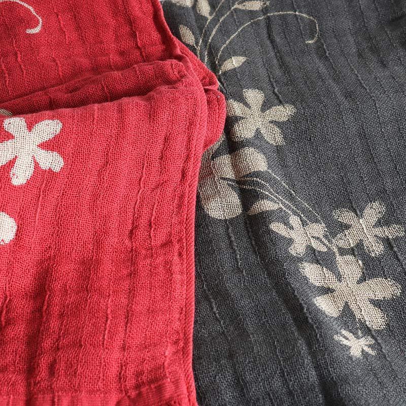 今治タオル コットンマフラー Imabari Towel Cotton Muffler Hana 華 レッド tanokichi 07