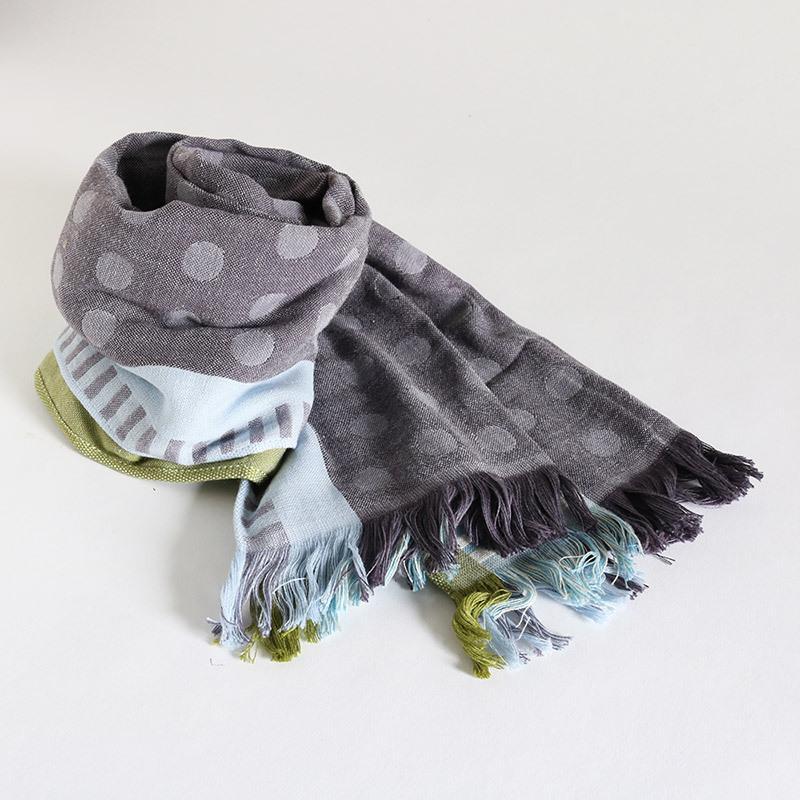 今治タオル コットンマフラー Imabari Towel Cotton Muffler Mix みっくす グレー|tanokichi