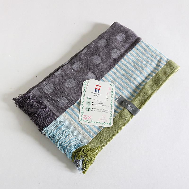 今治タオル コットンマフラー Imabari Towel Cotton Muffler Mix みっくす グレー|tanokichi|02