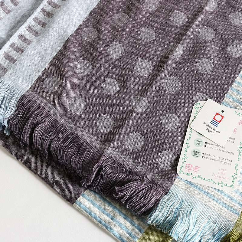 今治タオル コットンマフラー Imabari Towel Cotton Muffler Mix みっくす グレー|tanokichi|03