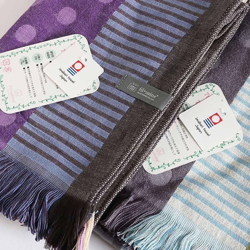 今治タオル コットンマフラー Imabari Towel Cotton Muffler Mix みっくす グレー|tanokichi|04