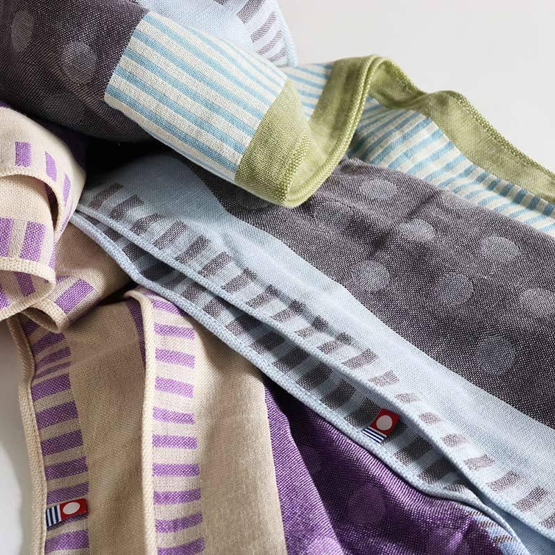 今治タオル コットンマフラー Imabari Towel Cotton Muffler Mix みっくす グレー|tanokichi|05