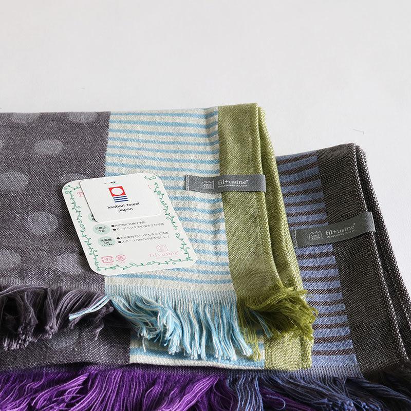 今治タオル コットンマフラー Imabari Towel Cotton Muffler Mix みっくす グレー|tanokichi|08
