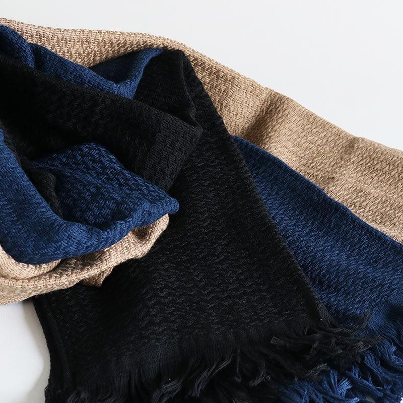 今治タオル コットンマフラー Imabari Towel Cotton Muffler Nami なみ ネイビー tanokichi 05