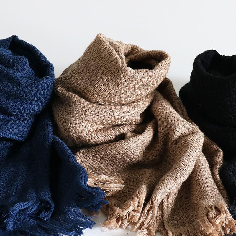 今治タオル コットンマフラー Imabari Towel Cotton Muffler Nami なみ ネイビー tanokichi 06