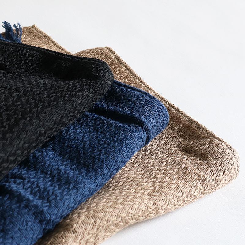 今治タオル コットンマフラー Imabari Towel Cotton Muffler Nami なみ ネイビー tanokichi 07
