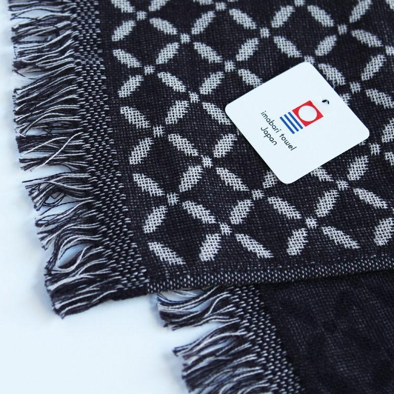 今治タオル コットンマフラー Imabari Towel Cotton Muffler Renka れんか ブラック tanokichi 02