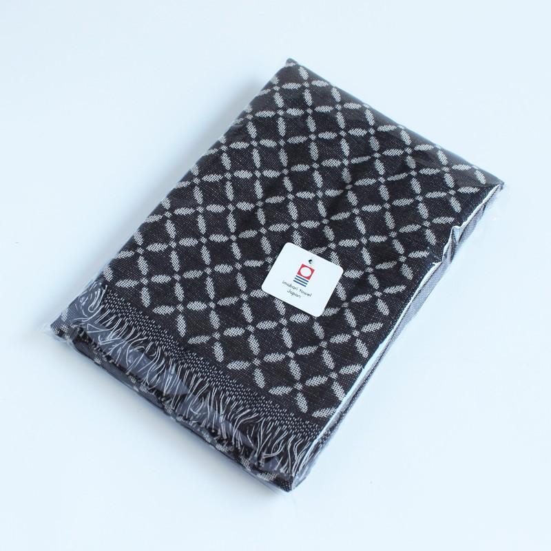 今治タオル コットンマフラー Imabari Towel Cotton Muffler Renka れんか ブラック tanokichi 03