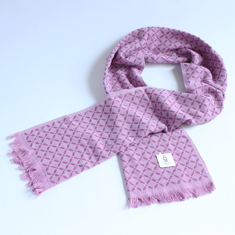今治タオル コットンマフラー Imabari Towel Cotton Muffler Renka れんか Newパープル tanokichi