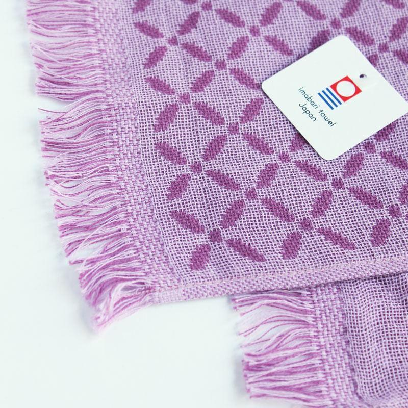 今治タオル コットンマフラー Imabari Towel Cotton Muffler Renka れんか Newパープル tanokichi 02