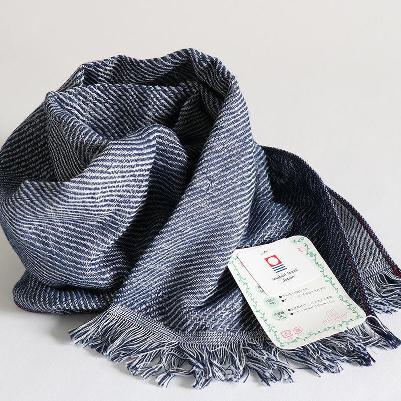 今治タオル コットンマフラー Imabari Towel Cotton Muffler Rides リッド ネイビー|tanokichi|04