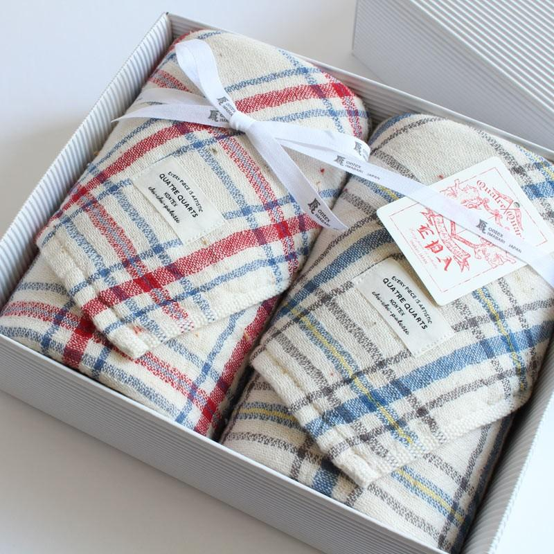 今治タオル コンテックス キャトルカール ギフトセット Imabari Towel Kontex Quatre Quarls GiftSet フェイスタオル2枚 tanokichi
