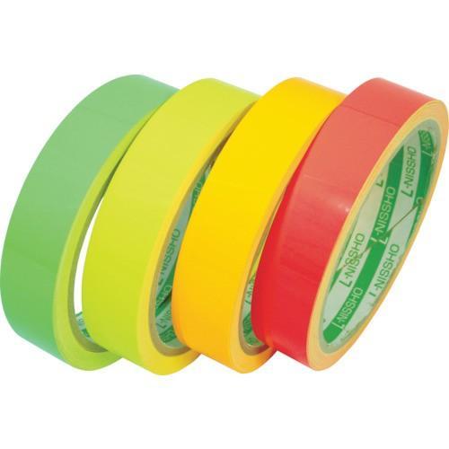 日東エルマテリアル 蛍光テープ 200mm×5m オレンジ LK−200OR 1巻 (お取寄せ品)