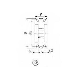 エバオン ブッシングプーリー SPB 190mm 溝数5 SPB190·5 1個 (お取寄せ品)