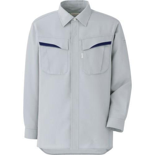 ミドリ安全 ベルデクセルPlantex ストレッチ長袖シャツ シルバーグレー L VES2491·UE·L 1着 (お取寄せ品)