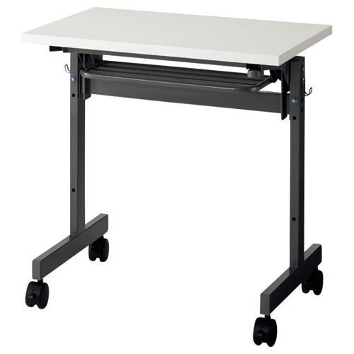 アール・エフ・ヤマカワ フォールディングテーブル 1人用 幅700×奥行450mm ホワイト SHFT−0745W−4WH 1台