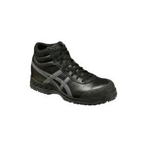アシックス 安全靴 FFR71Sウィンジョブ71S ブラック×ガンメタリック 23.0cm FFR71S−9075−23.0 1足 (お取寄せ品)