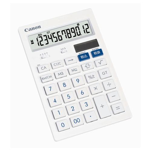 キヤノン 抗菌キレイ電卓 HS−121T SOB 12桁 中型卓上タイプ 3442B001 ホワイト 安心の定価販売 最安値挑戦 1台