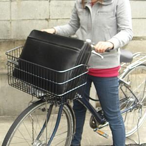 自転車かご 超ワイドな自転車カゴ デカーゴ 通勤 通学 お買い物に便利 ビジネスバッグ 買い物袋がちゃんと入る 自転車 かご 前 カゴ ワイド 大きい 大きな tanpopo 02
