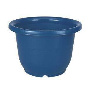 ds-2247994 (まとめ) ベーシック 植木鉢/ポット 【輪鉢 8号 ブルー】 穴付き シンプル ガーデニング用品 園芸 【×60個セット】 (ds2247994)