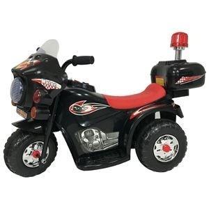 ds-2161025 電動 ポリスバイク/おもちゃ 【黒バイ 幅80cm】 8〜12時間充電 30分使用可 ミュージックボタン