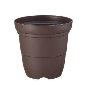 ds-2247896 (まとめ) プラスチック製 植木鉢/ポット 【長鉢 5号 コーヒーブラウン】 ガーデニング 園芸 『カラーバリエ』 【×60個セット】 (ds2247896)