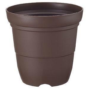 【納期目安:1週間】リッチェル 4973655751848 カラーバリエ 長鉢 8号 コーヒーブラウン (プラスチック製 植木鉢 プラ鉢)【30個セット】
