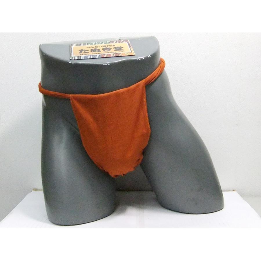 六尺ふんどし 特岡さらし 赤橙 Lサイズ tanukidou