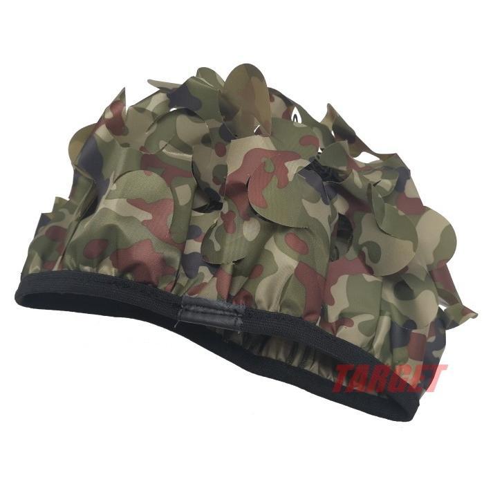 八八式鉄帽用偽装網 陸迷彩偽装カバー付 (ひらひら ギリー ヘルメット ...