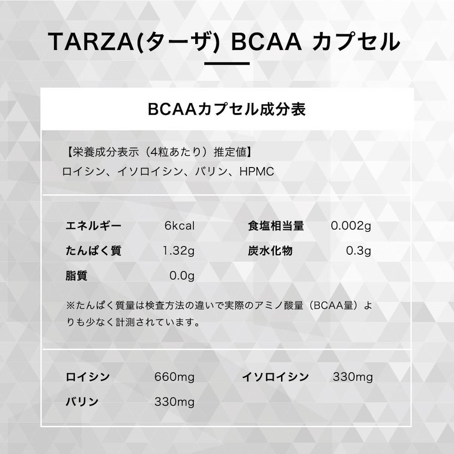 TARZA(ターザ) BCAA カプセル 158400mg 480粒入 約120回分  国産 アミノ酸 サプリメント タブレット 無香 tarza 16