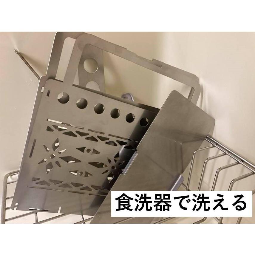 ステンレス焚火台 収納袋つき キャンプ アウトドア ソロキャンプ デュオキャンプ tasiro 07