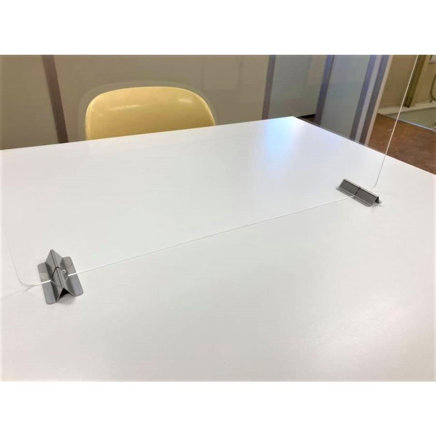 差し込むだけ パネルスタンド 安い 飛沫防止 コロナ アクリル板 パーテーション 衝立 板の差し込み幅2mm 3mm 4mm 5mm|tasiro|03