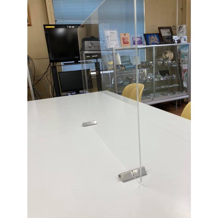差し込むだけ パネルスタンド 安い 飛沫防止 コロナ アクリル板 パーテーション 衝立 板の差し込み幅2mm 3mm 4mm 5mm|tasiro|05