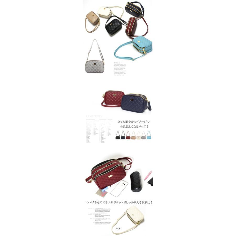 ショルダーバッグ レディース 斜めがけ カジュアル 3POCKETショルダーバッグ ミニバッグ 小さめ バッグ キルティングバッグ シンプル 大人気バッグ 軽量 大人|tasplus|10