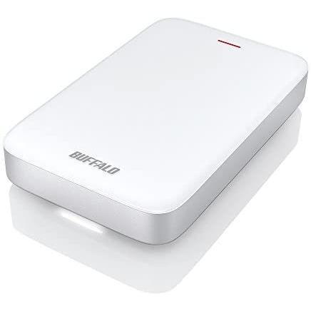 BUFFALO バッファロー Thunderbolt+USB3.0Type-C変換ケーブル付 ポータブルHDD 2TB (シルバー 2TB)