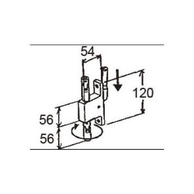 LIXIL/TOSTEM 窓サッシ用部品 錠 装飾窓 オペレーター:クランク式オペレーターAGCZ124 リクシル トステム