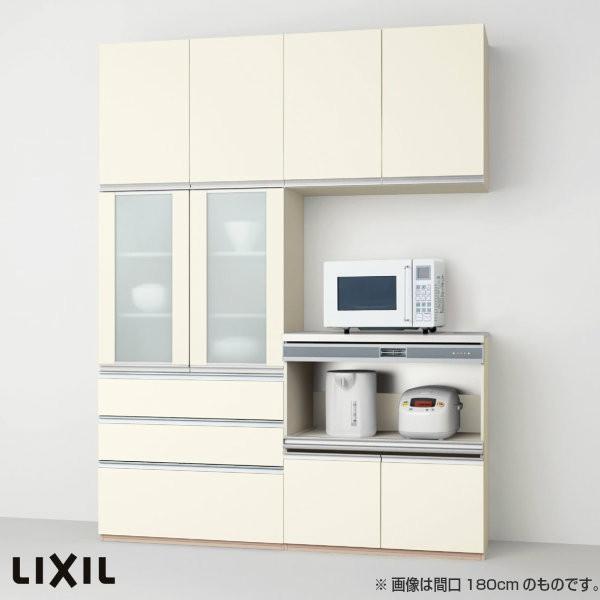 食器棚 食器棚 キッチン収納 リクシル/LIXIL アレスタ 収納ユニット 壁付型 カップボード+ハイフロアプラン 1段引出し付 スライドストッカー+家電収納 S4004 グループ4