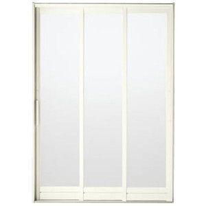 BF浴室3枚引戸(引き戸) 枠付 プレートハンドルタイプ 樹脂パネル 16-18 W1612H1818 LIXIL/リクシル アルミサッシ