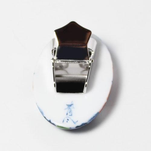 有田焼伊万里焼で知られる陶芸磁器ループタイ。染錦紋様。|tatikawa|03