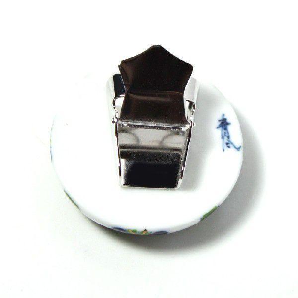 有田焼伊万里焼で知られる陶芸磁器ループタイ。染錦七宝紋様。 tatikawa 03
