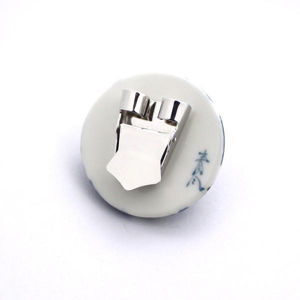 有田焼伊万里焼で知られる陶芸磁器ループタイ。染錦市松花紋様。|tatikawa|04