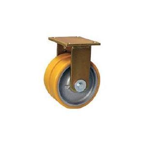 シシク 重荷重用キャスター 固定 150径 ウレタン車輪 シシクSISIKUアドクライス(株 (BSD-GTH-150K-35) (466-0471)