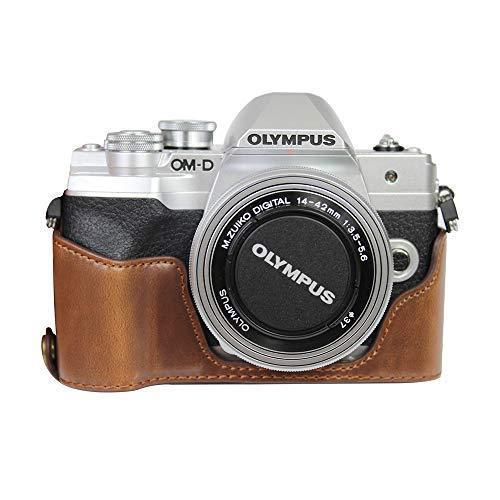対応 Olympus オリンパス PEN OM-D EM10 Mark IV カメラ バッグ カメラ ケース 、Koowl  (コーヒー色)|tatsunoya