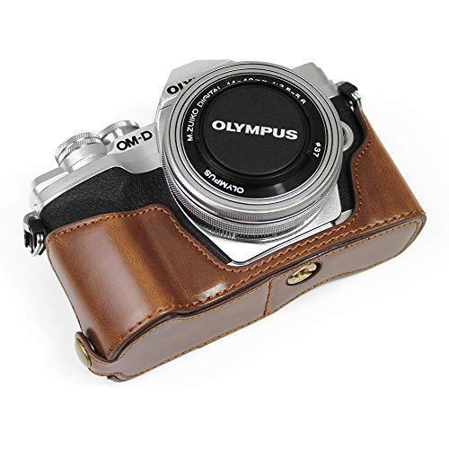 対応 Olympus オリンパス PEN OM-D EM10 Mark IV カメラ バッグ カメラ ケース 、Koowl  (コーヒー色)|tatsunoya|03