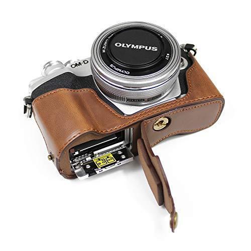 対応 Olympus オリンパス PEN OM-D EM10 Mark IV カメラ バッグ カメラ ケース 、Koowl  (コーヒー色)|tatsunoya|06