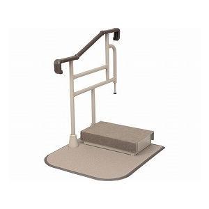 通販 高齢者 介護 ツインディXPN-L80203 片手すり踏み台付(手すり 老人 お年寄り 便利グッズ ) 玄関用自在手すり てすり-介護用品
