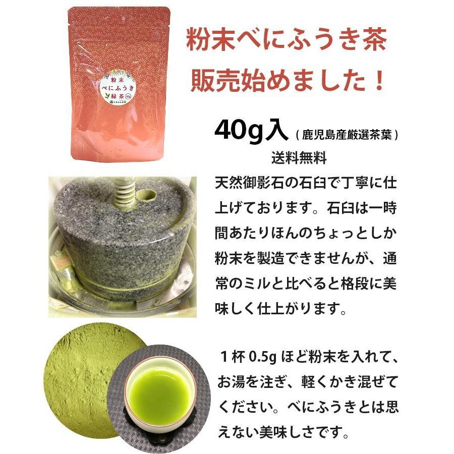 べにふうき茶 緑茶 機能性表示食品 鹿児島産 茶葉 100g 粉末50g お茶 tea-sanrokuen 02