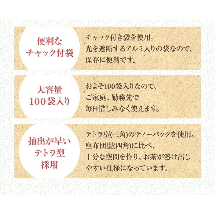 ティーパック お茶 ティーバッグ 緑茶 2.5g×100個 熊本産一番茶100% 水出し お湯だしOK|tea-sanrokuen|05