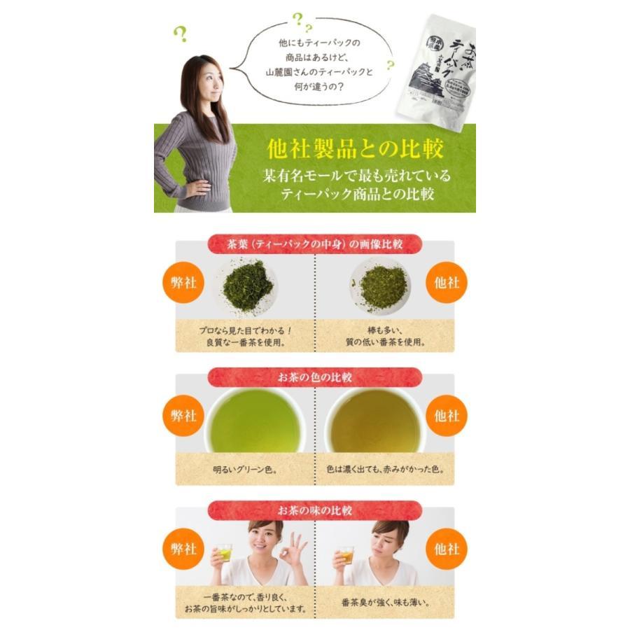 ティーパック お茶 ティーバッグ 緑茶 2.5g×100個 熊本産一番茶100% 水出し お湯だしOK|tea-sanrokuen|09
