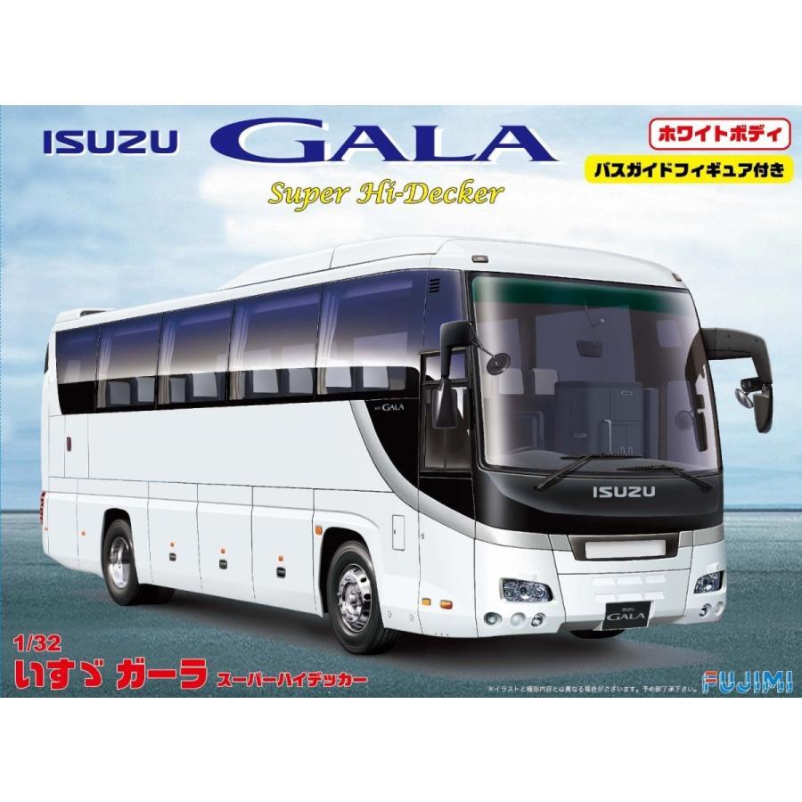 フジミ 1/32 観光バスシリーズSPOT いすゞ ガーラ スーパーハイデッカ ホワイトボディ プラモデル